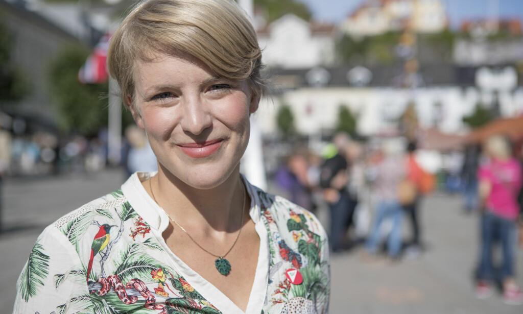 REFSER POLITIKERNE: Kari Elisabeth Kaski topper lista for Oslo SV foran høstens valg. Hun ber politikerne holde opp pratet om norske verdier. Foto: Torstein Bøe / NTB scanpix