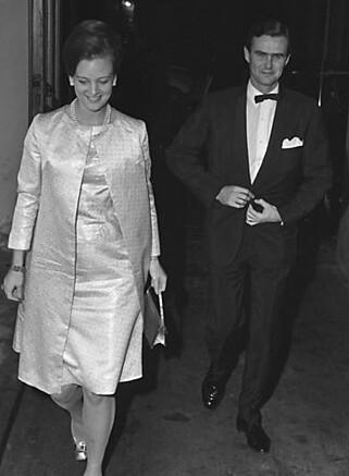 ETTERTRAKTET: Prinsesse Margrethes kjærlighetsliv var av stor interesse for dansk presse, spesielt etter at hun møtte franske Henrik. Foto: NTB Scanpix