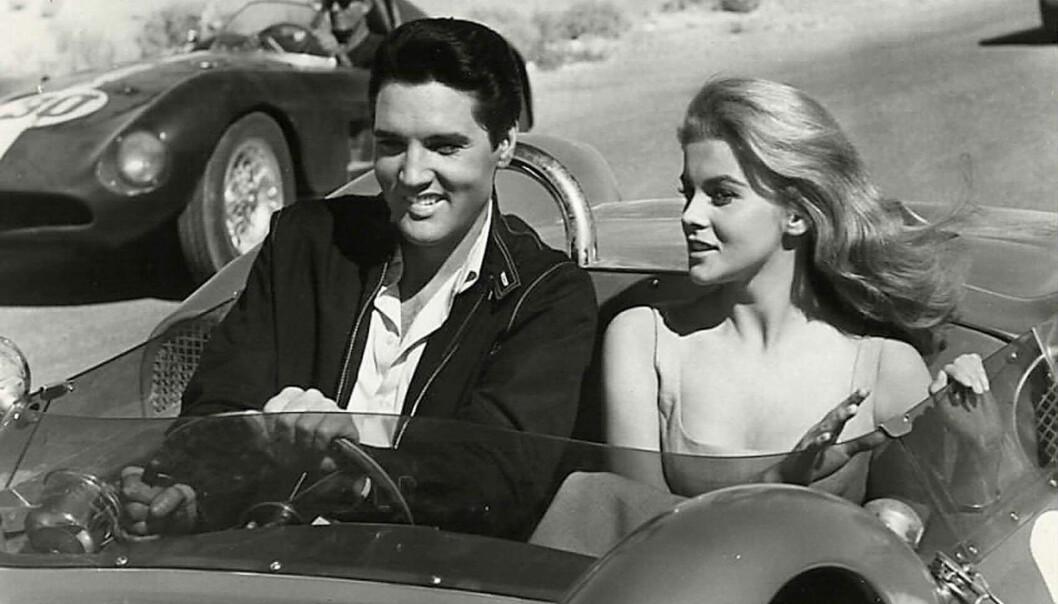 AFFÆRE: Priscilla Presley har uttalt at hun mistenkte at kjæresten hadde hatt en affære med sin svenske skuespillerkollega Ann-Margret Olsson under filminnspillingen av Viva Las Vegas i 1964. Hun skal ikke ha vært den eneste skjønnheten Elvis hadde en affære med før og under ekteskapet med Priscilla. Foto: NTB Scanpix