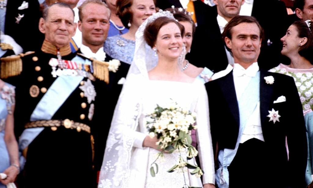 GIFT: Dronning Margrethe og prins Henrik giftet seg 10. juni 1967. Paret har nylig feiret 50 års bryllupsdag. Foto: NTB Scanpix