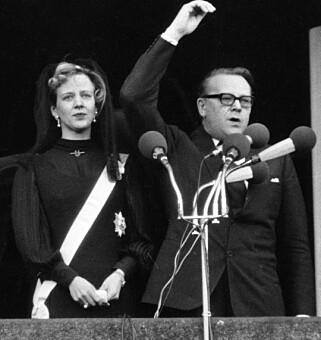DRONNING: Margrethe besteg tronen ved farens død i 1972. Foto: NTB Scanpix