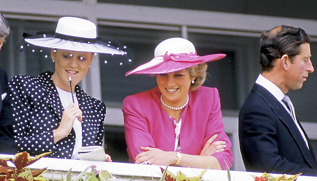 TETTE BÅND: Diana var Sarahs store idol. De to svigerinnene hadde mye gøy på Slottet de første årene, men den siste tiden Diana levde hadde de ingen kontakt. Foto: REX