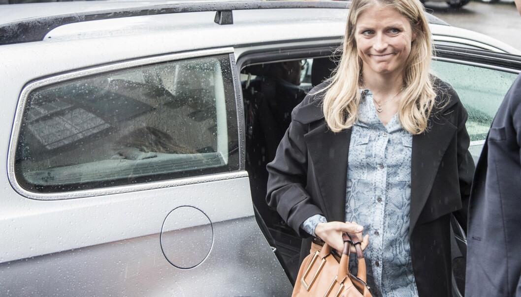 <strong>HØRING:</strong> Therese Johaug på vei inn til CAS-høring i Lausanne. Foto: Hans Arne Vedlog / Dagblader