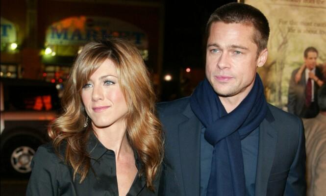 POPULÆRT PAR: Brad og Jennifer var et av Hollywoods heteste par i starten av 2000-tallet. Foto: NTB scanpix