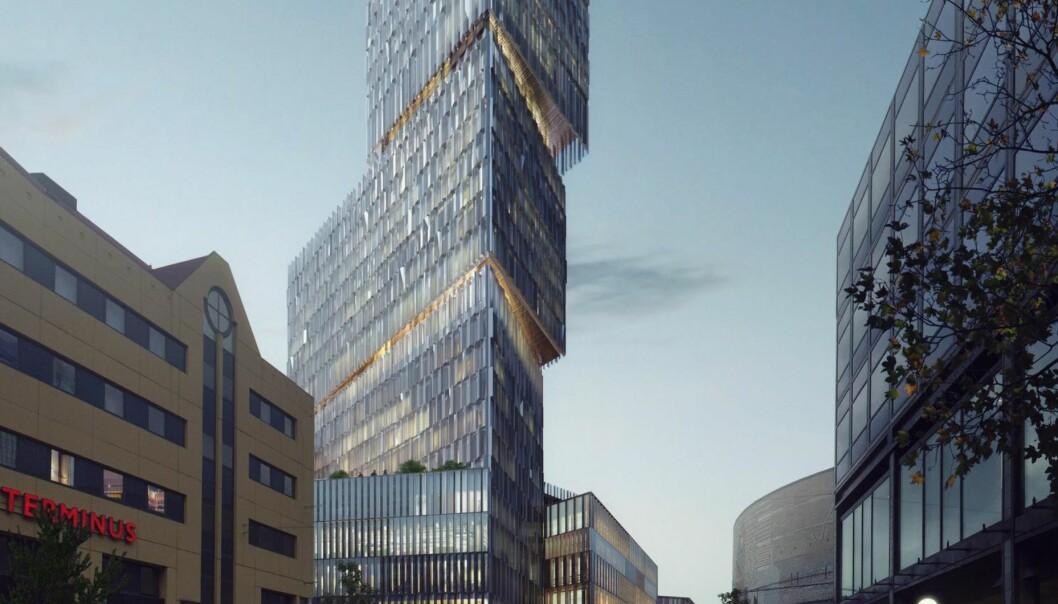 <strong>EN TAPT MULIGHET?:</strong> I den østlige enden av Oslos bilfrie sentrum skal Thon Eiendom fylle et helt kvartal med hotell, handel – og 3,5 prosent boliger.