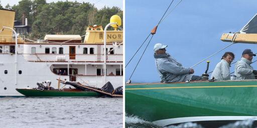 image: Masten brakk på kong Haralds båt