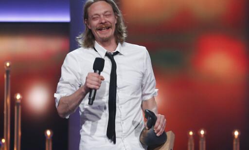 GODT HUMØR: Kristoffer Joner vant beste mannlige hovedrolle. Foto: Jan Kåre Ness / NTB scanpix