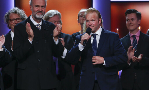 TAKKER: Regissør Erik Poppe (t.v.) og Anders Baasmo Christiansen. Foto: Jan Kåre Ness / NTB scanpix