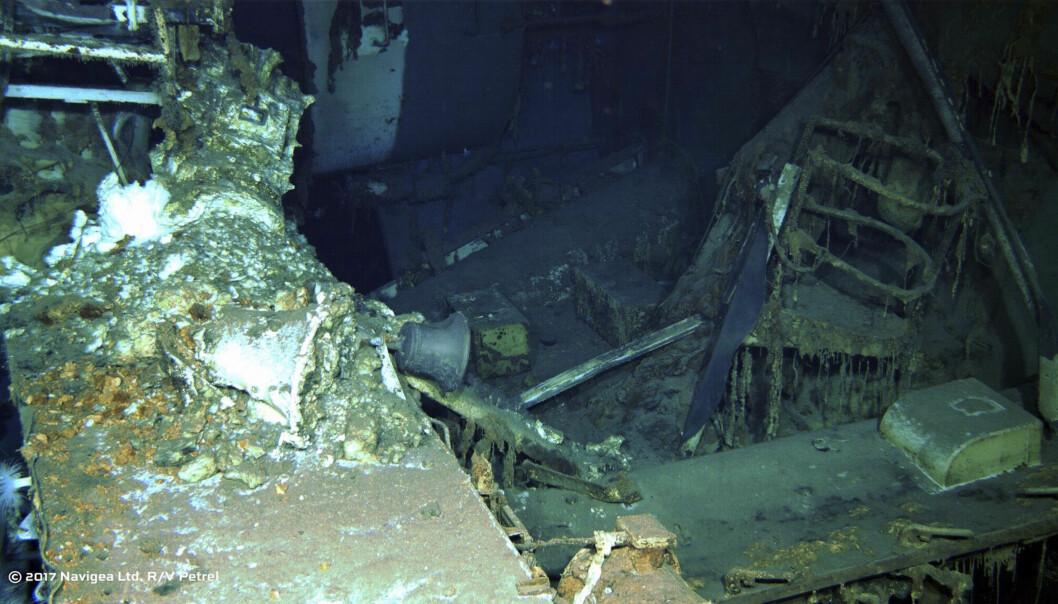 <strong>VRAK:</strong> Vrakrestene fra et krigsskip er funnet utenfor Filippinene. Foto: AP / NTB Scanpix