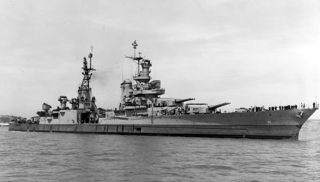 <strong>SKIP:</strong> 72 år etter at det ble torpedert, er USS Indianapolis funnet igjen, på 5.500 meters dyp utenfor Filippinene. Foto: AP / NTB scanpix