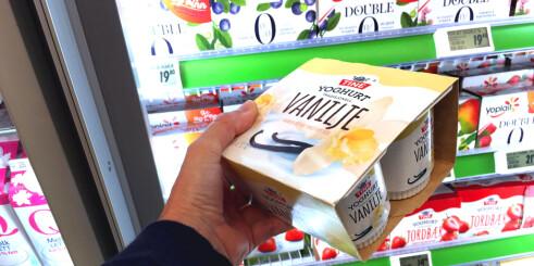 Skolemelk-yoghurt er dobbelt så dyrt som i butikken