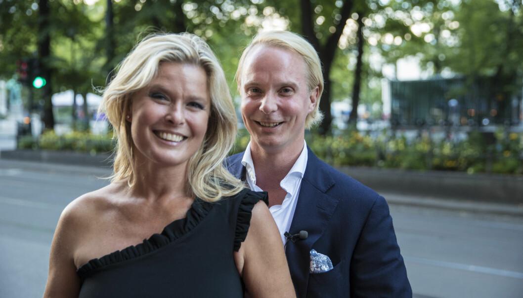 <strong>FEIRET KJÆRLIGHETEN:</strong> Vendela Kirsebom og Petter Pilgaard har i kveld premiere på TV 2-serien «Vendela + Petter», og hadde premierefest i Oslo søndag kveld. Foto: Vidar Ruud / NTB scanpix