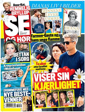 LES MER: I tirsdagens utgave av Se og Hør kan du lese mer om Ingunn Solheim og blant annet om Farmen-Gautes nye kjæreste. Foto: Faksimile