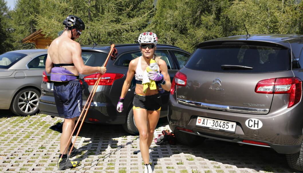 <strong>FÅR FORTSETTE PÅ SATS:</strong> Therese Johaug får trene på Sats Elixia etter dopingdommen. Her er hun i Seiser Alm nylig. Foto: Tormod Brenna / Dagbladet