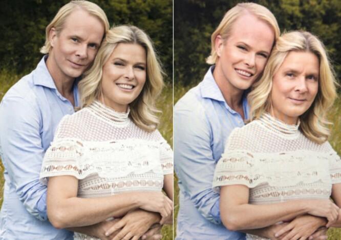 Ulike, ja. Men på mange måter ganske like også. Tror det eller ei, men på et av disse bildene har jeg utført en såkalt «face swap». Klarer du å se hvilket? Foto: TV2