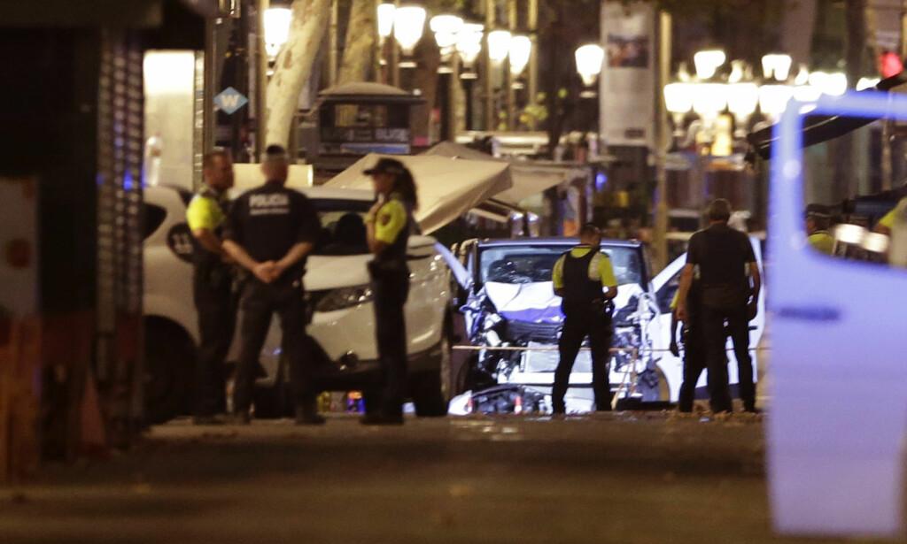 PÅGREPET: Tre personer knyttet til terrorangrepet i Barcelona 17. august i fjor (bildet) er nå pågrepet. Foto: NTB Scanpix/AP/Manu Fernandez