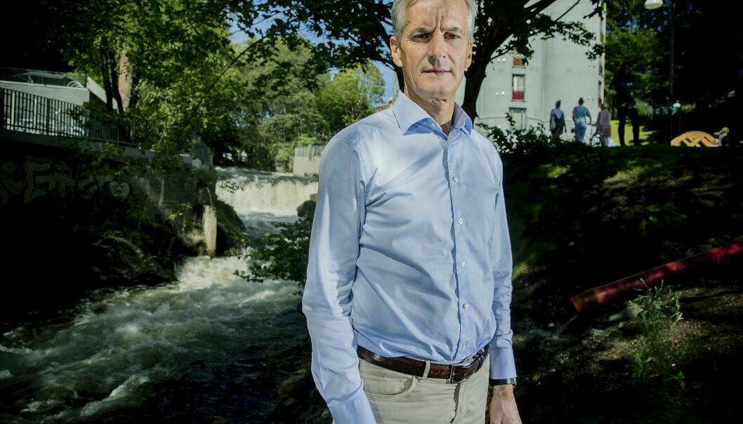 <strong>FINNER IKKE FORMEN:</strong> Jonas Gahr Støre og Arbeiderpartiet har ikke funnet formen før høstens stortingsvalg. Foto: Bjørn Langsem