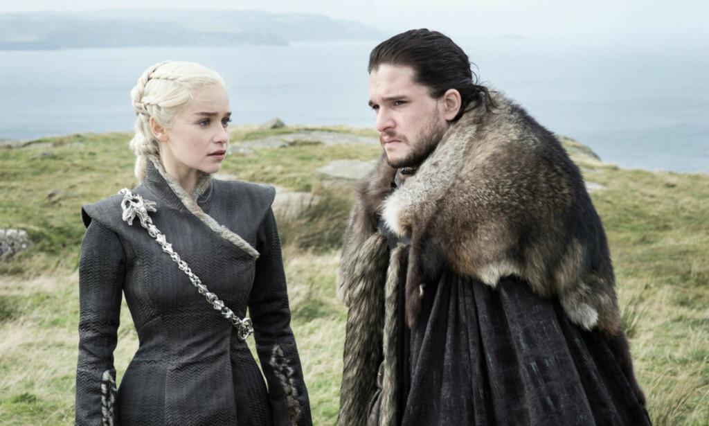 IS OG ILD: Jon og Daenerys i ukas Game of Thrones-episode. Foto: HBO NORDIC