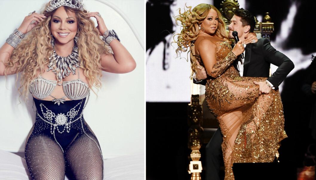 MARIAH CAREY: Nok en gang blir popstjernen anklaget for å ha redigert bilder. Foto: NTB scanpix / Skjermdump Instagram