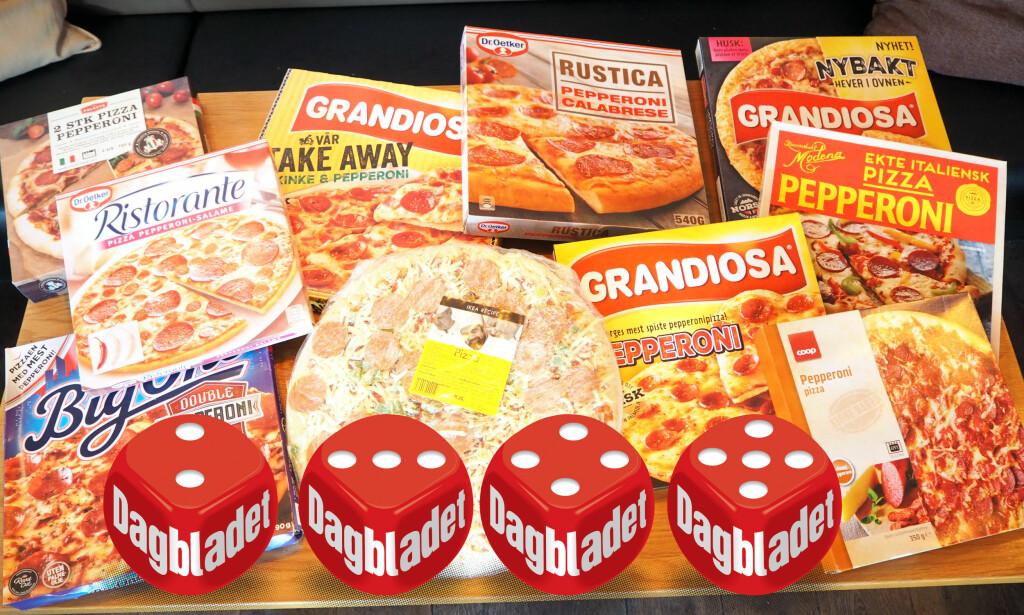 PEPPERONIPIZZA: Vi har smakt på ti forskjellige frossenpizza med pepperoni, og forskjellene er store.