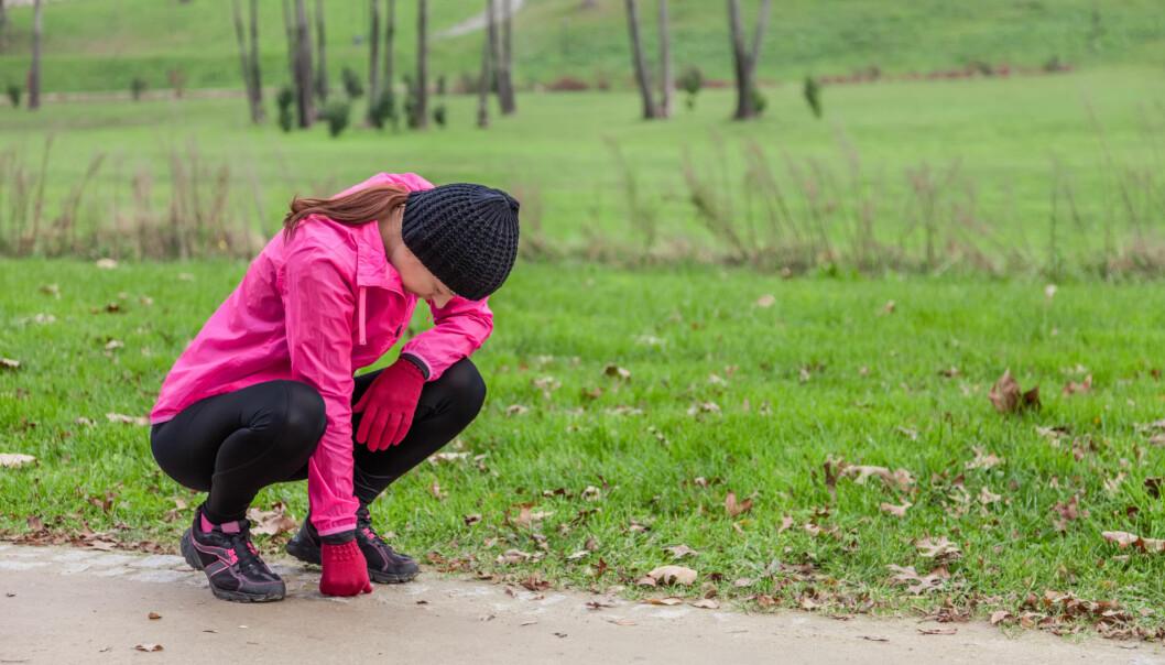 <strong>VANLIG MED MAGEVONDT:</strong> Mageknip på en lang løpeøkt er ikke uvanlig. FOTO: Scanpix