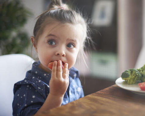 image: Vurderer du å oppdra barnet på vegetarkost?