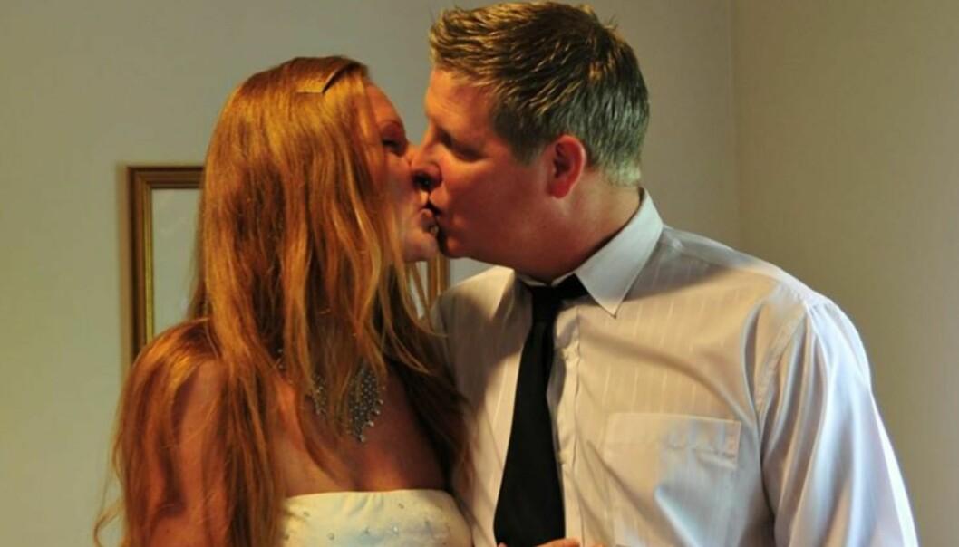 GIFT: Carina og Erik giftet seg i 2015. Da hadde de aldri bodd sammen. FOTO: Privat