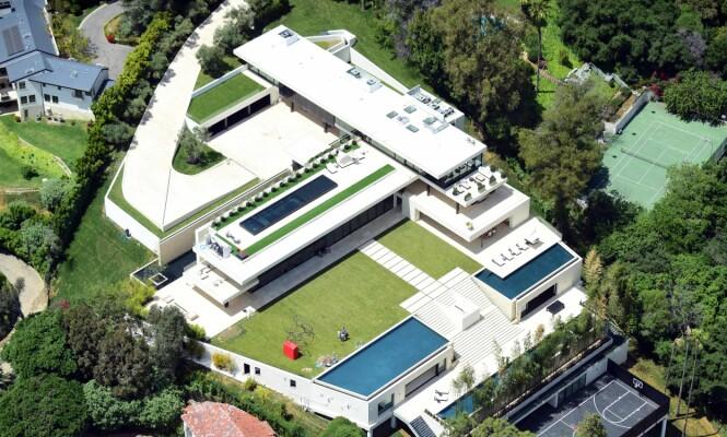 <strong>DRØMMEBOLIG:</strong> Beyoncé og Jay Z har blitt eiere av dette huset i Bel Air. Foto: NTB Scanpix.