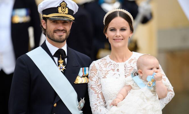 DÅP: Prins Alexander av Sverige ble døpt i Drottningholm slottkirke i september i fjor. Foto: NTB Scanpix