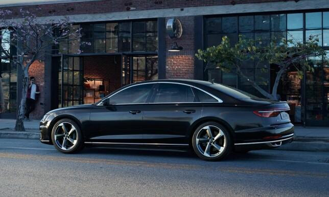 FØRST UT: Det blir flaggskipet A8 som blir første modell med den nye typen versjonsnummerering. Foto: Audi