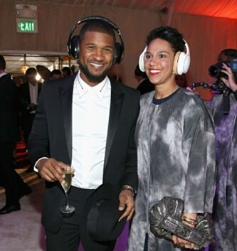 GIFT: Usher og kona Grace Miguel har vært gift siden 2015. Foto: NTB Scanpix