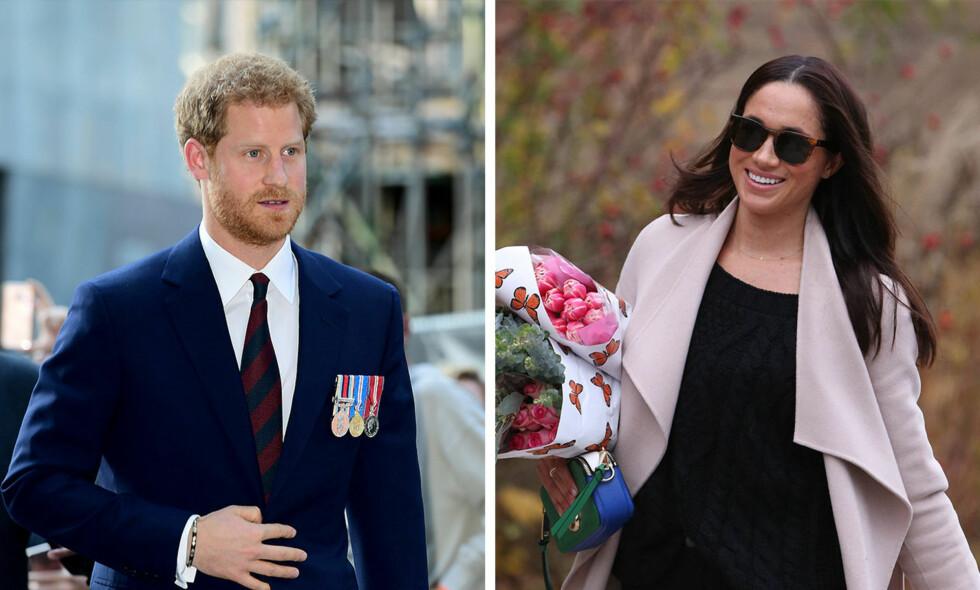 PASSER IKKE: De kongelige kalenderne er fulle resten av 2017. Det passer seg derfor ikke at prins Harry frir til kjæresten Meghan Markle. Foto: Pa Photos / Splash News