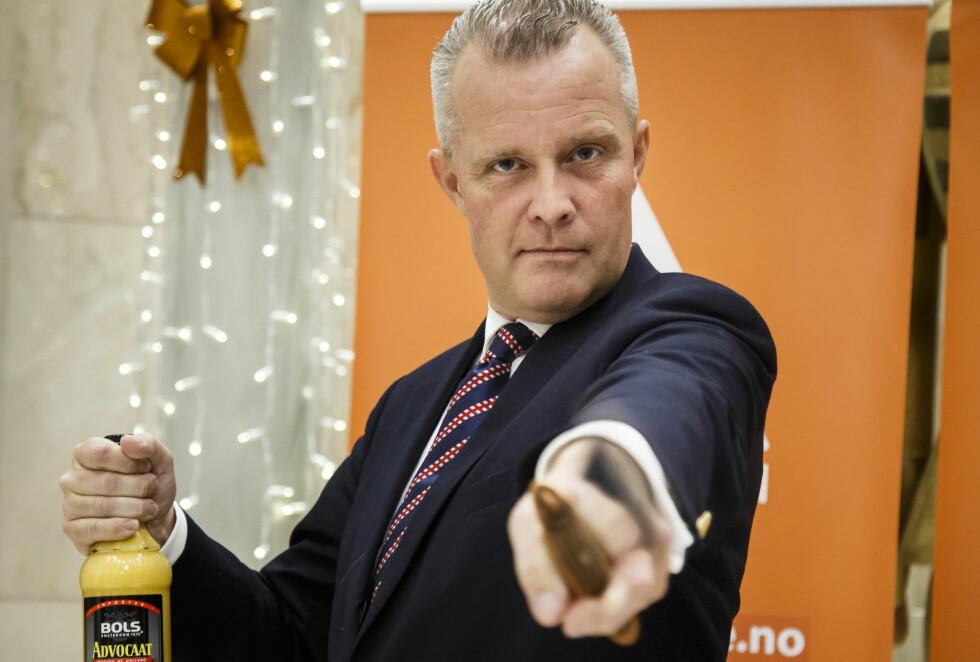 MED AGENDA: Partilederen i Alliansen mener media har en agenda. Foto: Heiko Junge / NTB scanpix