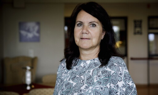FÅ KLAGER: Avdelingsleder Beate Andersen på korttidsavdelingen på Halden sykhjem mener at de fleste beboerne er fornøyd med maten.