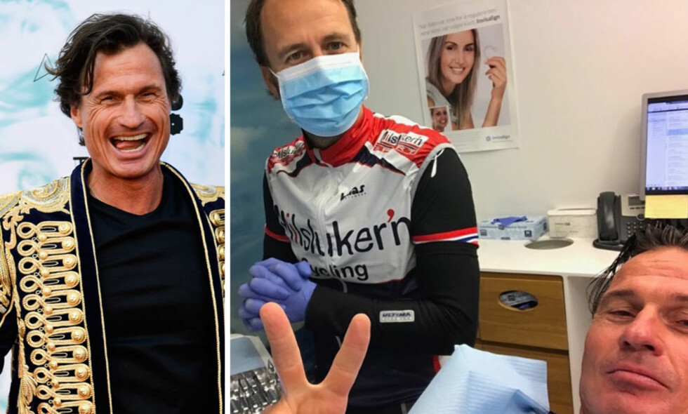 LØPETUR ENDTE HOS TANNLEGEN: Petter Stordalen måtte ringe tannlegen for en hastetime tirsdag morgen. Foto: NTB Scanpix / Skjermdump Instagram