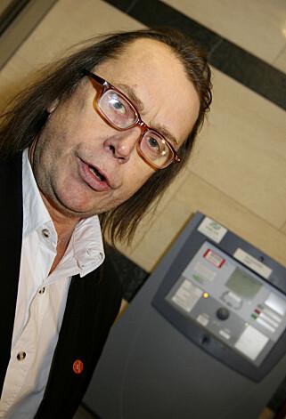 GRUNNLEGGER: Øystein Meier Johannessen, grunnlegger av Samfunnspartiet, mener at kjendiser får tåle at de står på stortingsvalglista. Bildet er tatt i 2007. Foto: Håkon Mosvold Larsen / NTB scanpix