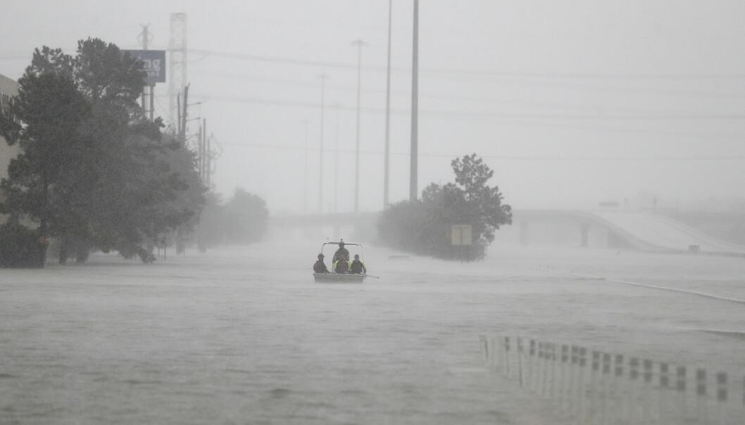 <strong>ORKANRESTER:</strong> Regnværet som råder over Norge stammer fra orkanen Harvey som for tre uker siden truet syv amerikanske delstater. Illustrasjonsfoto: Karen Warren/Houston Chronicle via AP