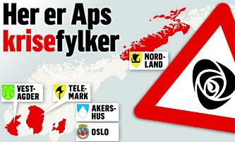 Ap's krisekart: I disse fylkene må Jonas Gahr Støre stoppe fallet