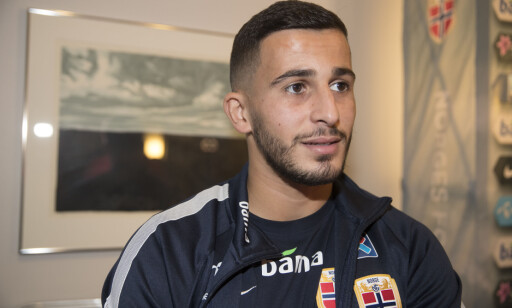 SPILLEKLAR: Omar Elabdellaoui er på landslagssamling denne uka. Foto: Terje Pedersen / NTB scanpix