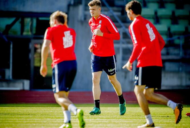 <strong>STOR OG STERK:</strong> Alexander Sørloth representerer kraft for Norge på topp hvis han starter. Foto: Bjørn Langsem / Dagbladet