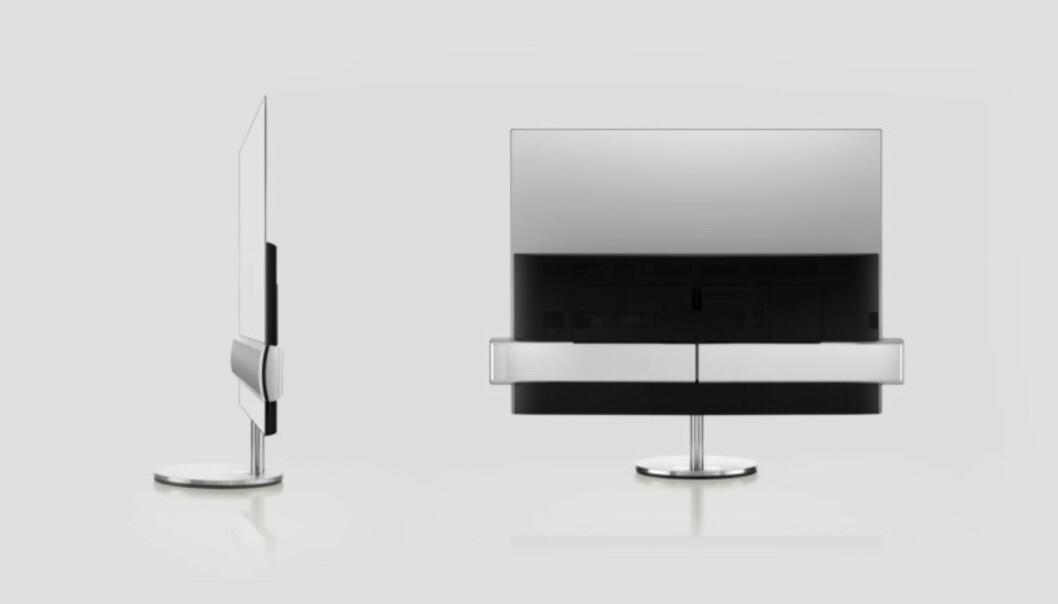 <strong>STILSTUDIE:</strong> BeoVision Eclipse skiller seg litt ut i mengden av nye TV-er. Foto: B&amp;O