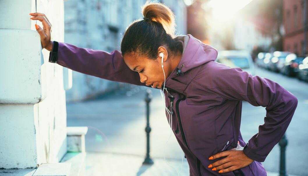 KVALM TRENING: Opplever du ofte at du blr kvalm når du løper eller trener hardt? FOTO: NTB Scanpix