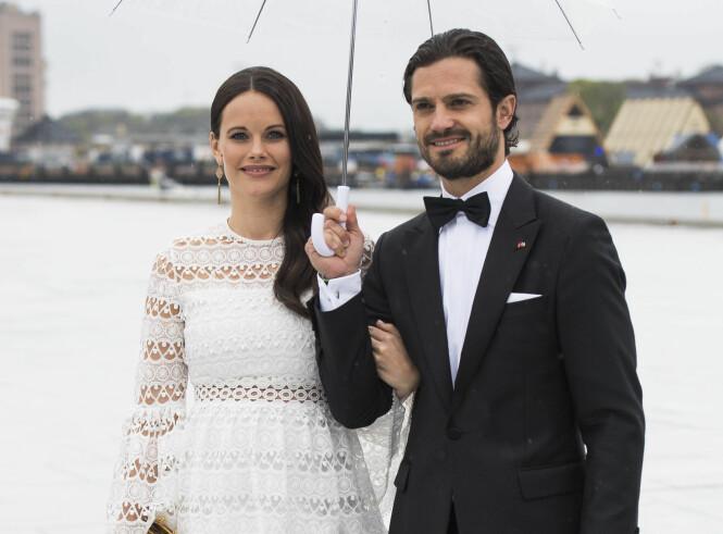 I OSLO: Prinsesse Sofia og prins Carl Philip sammen i Oslo tidligere i år, under kong Harald og dronning Sonjas 80 årsfeiring. Foto: NTB Scanpix