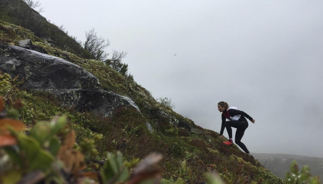 DELER TRENINGSBILDER: Charlotte har også begynt å dele bilder av løpingen sin på Instagram.
