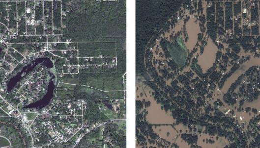 Vannmengdene var så enorme at storbyen sank to centimeter: -Bøyde jordskorpa