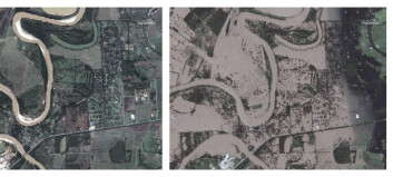 «Harvey» la Texas under vann. Før- og etterbilder viser de enorme vannmassene