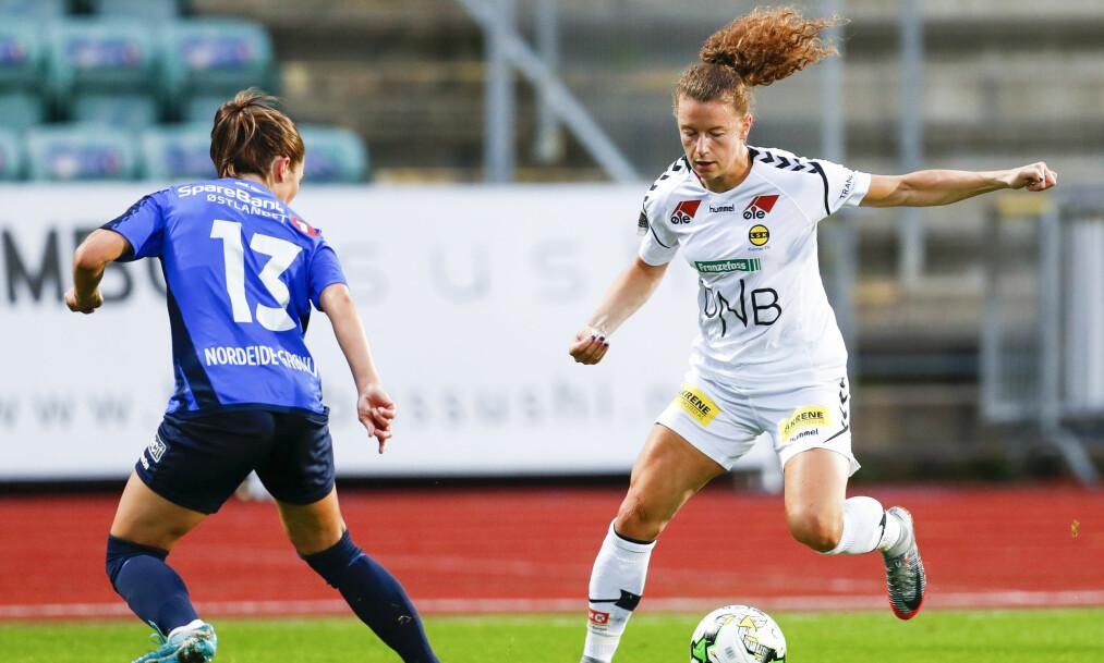 <strong>DRØMMEUKE:</strong> LSK-spiller Synne Skinnes Hansen ble tatt ut på landslaget, så avgjorde hun NM-kvartfinalekampen mot Stabæk. Foto: Heiko Junge / NTB scanpix
