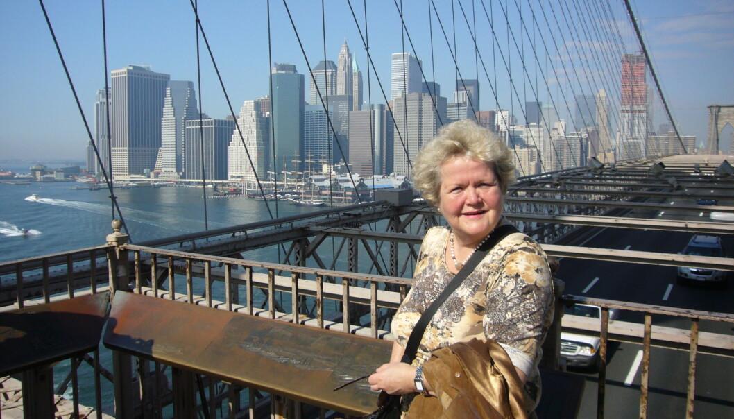 <strong>KLAR FOR STORBYEN:</strong> Emma Elisabeth Vennesland, assisterende informasjonsdirektør i Europeiske Reiseforsikring, oppfordrer nordmenn til å passe godt på når de er på storbyreiser. Foto: IF