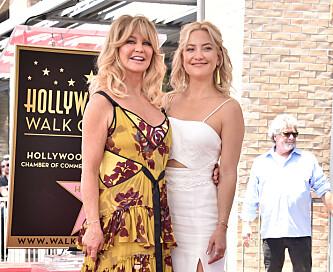 MOR OG DATTER: Kate Hudson er datteren til den brømte skuespilleren Goldie Hawn. Foto: Pa Photos