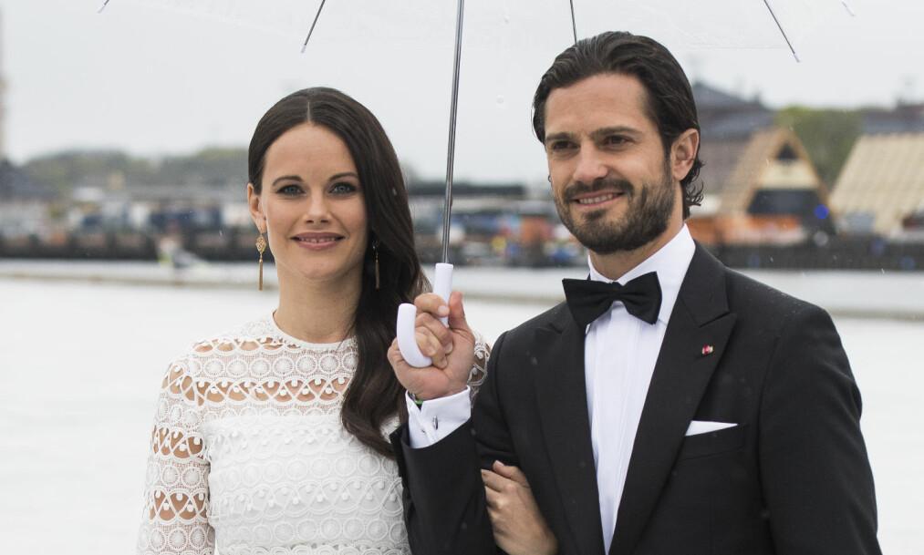 OFFENTLIGGJORDE NAVNET: Mandag delte prinsesse Sofia og prins Carl Philip navnet på deres nyfødte sønn. Her var paret i Oslo tidligere i år under kong Harald og dronning Sonjas 8+ årsfeiring. Foto: NTB Scanpix